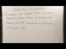 Lernvideo, Nachhilfevideo - Abiotische Umweltfaktoren