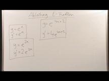 Lernvideo, Nachhilfevideo - Ableitung E-Funktion
