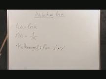 Lernvideo, Nachhilfevideo - Ableitung ln x Funktion