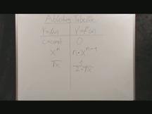 Lernvideo, Nachhilfevideo - Ableitung Tabelle