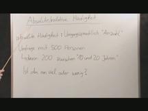 Lernvideo, Nachhilfevideo - Absolute & Relative Häufigkeit + Beispiel