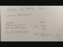 Lernvideo, Nachhilfevideo - Absoluter & Relativer Fehler