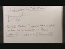 Lernvideo, Nachhilfevideo - Brechungsgesetz / Totalreflexion