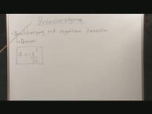 Lernvideo, Nachhilfevideo - Bremsverzoegerung