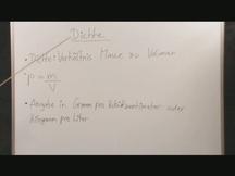 Lernvideo, Nachhilfevideo - Dichte