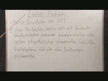 Lernvideo, Nachhilfevideo - Einstein Postulat