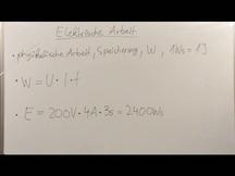 Lernvideo, Nachhilfevideo - Elektrische Arbeit
